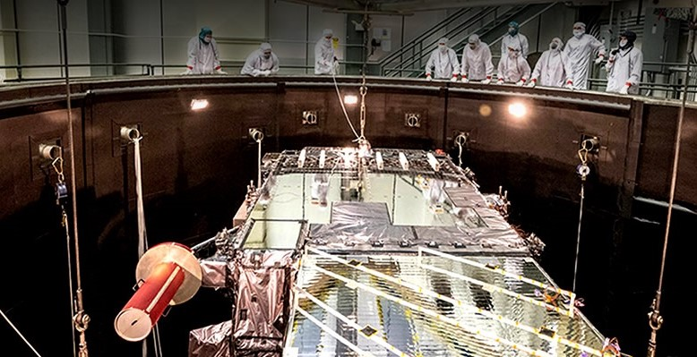 GOES-T Satellite Undergoes Testing to Simulate Launch and Orbit Conditions