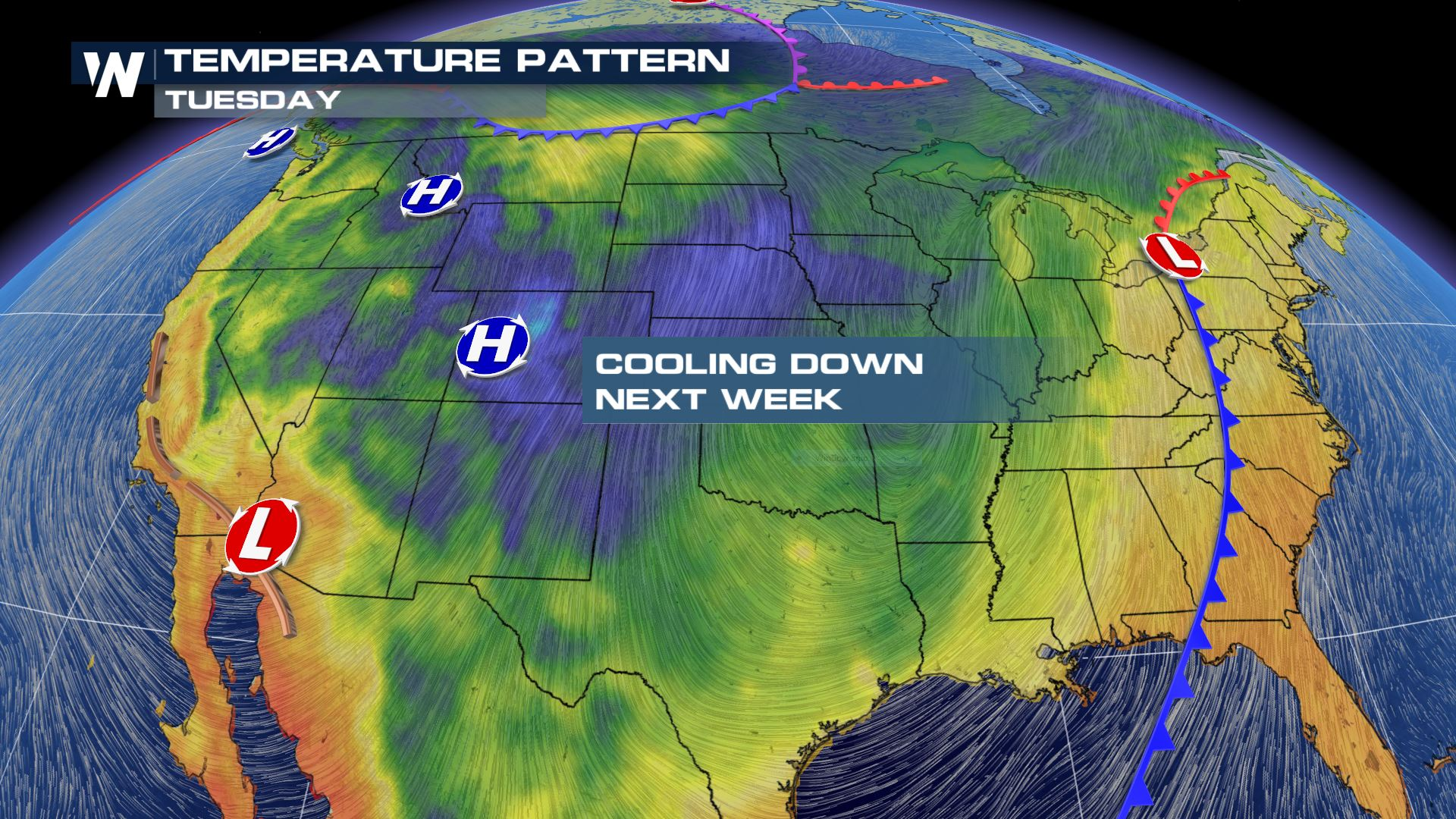 Cooler temperatures arrive for many next week