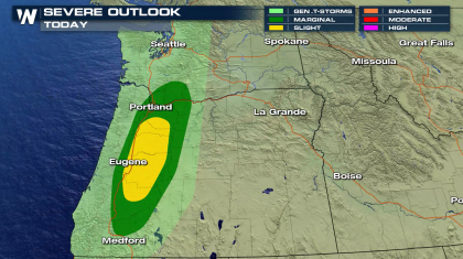 Severe Thunderstorm Threat in the Pacific Northwest