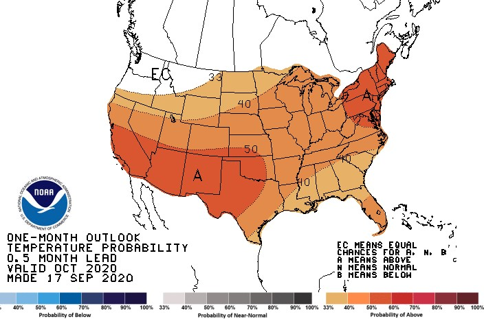 October Outlook Leaning Towards Warm and Dry Weather