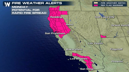 Fire Danger and Heat to Expand Over the Western U.S.