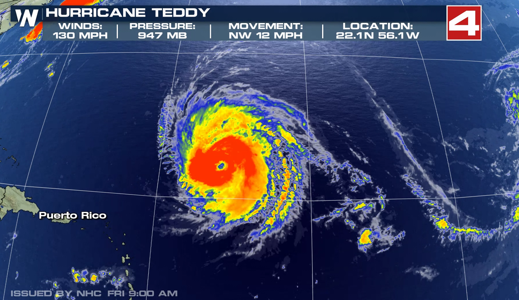 Tropical Storm Warnings Issued for Bermuda as Teddy Draws Near