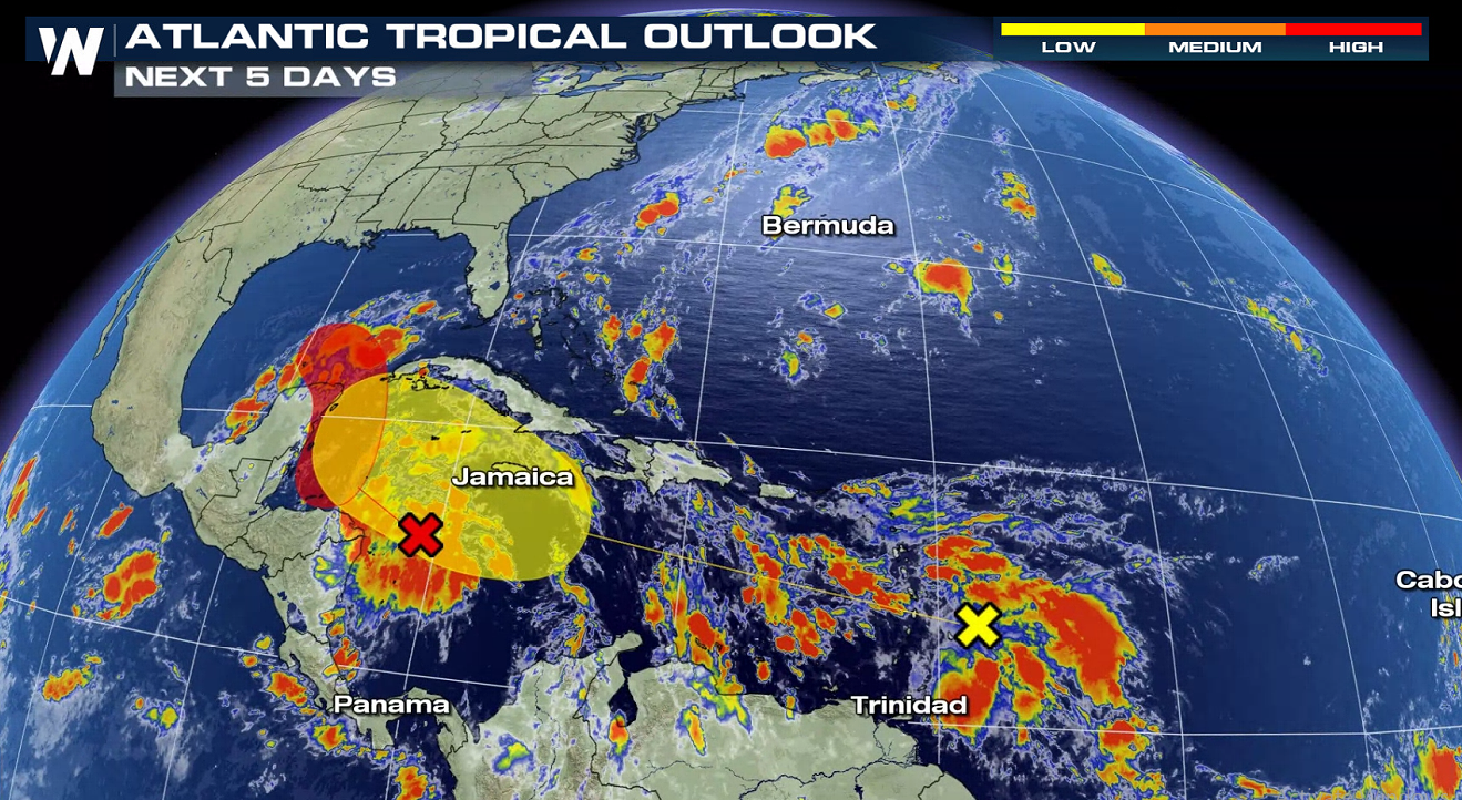 Tropics Update: Two areas of interest in the Caribbean
