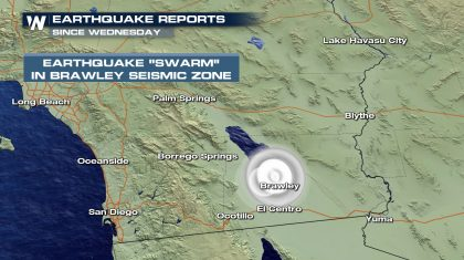 Swarm of Earthquakes Shakes the Southern California Desert