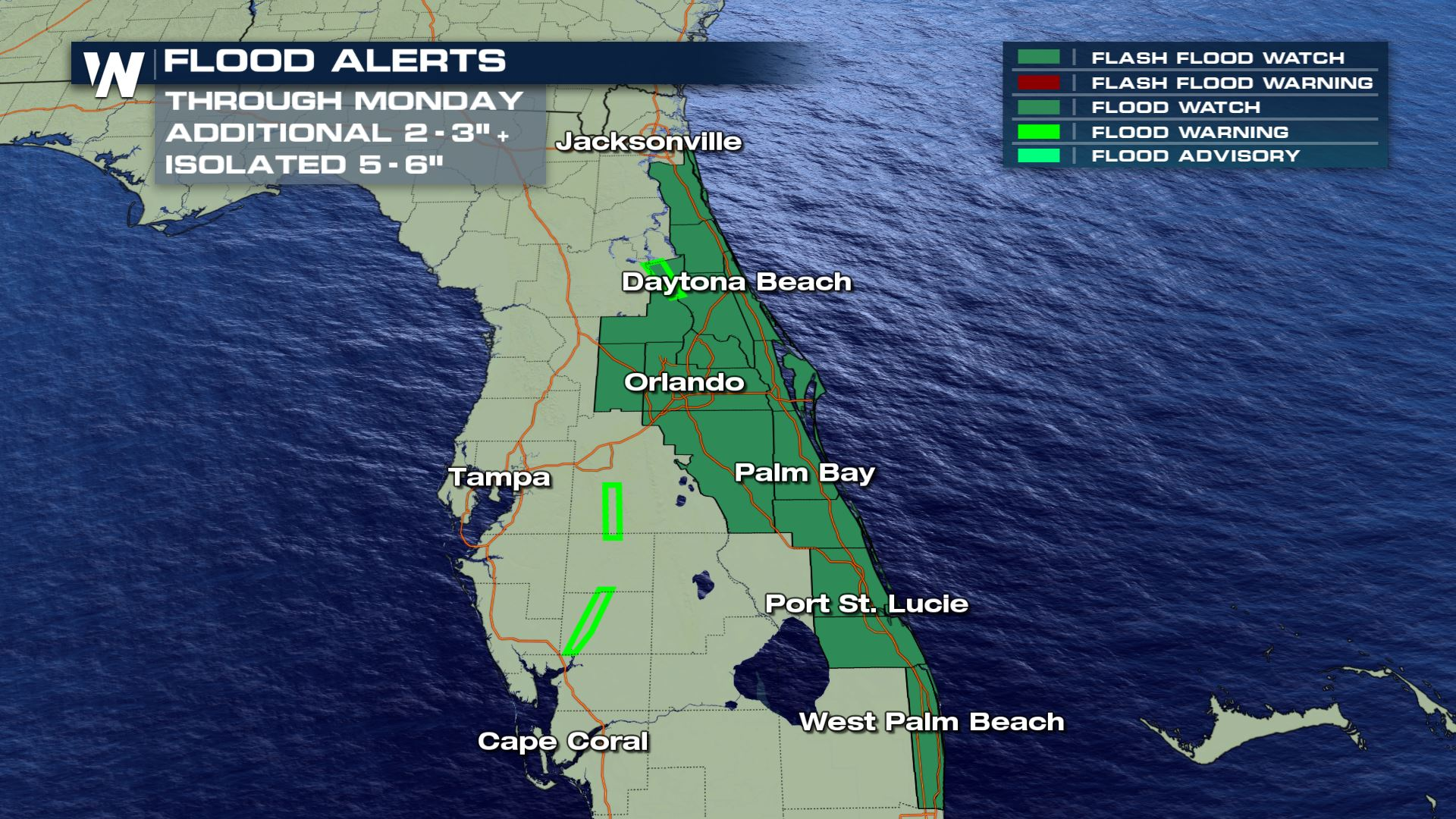 Heavy Rain and Flooding Continues in Florida