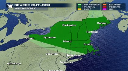 Marginal Risk for Severe Storms in New England
