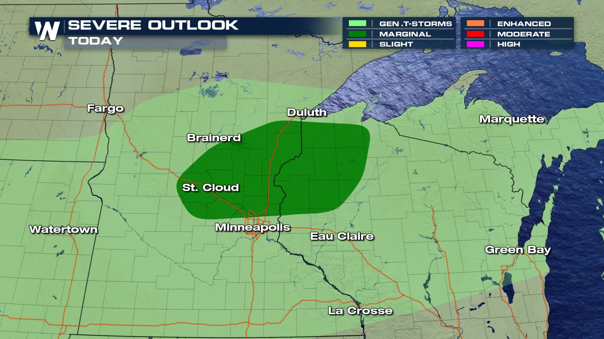 Isolated Storm Threat for the Midwest Wednesday