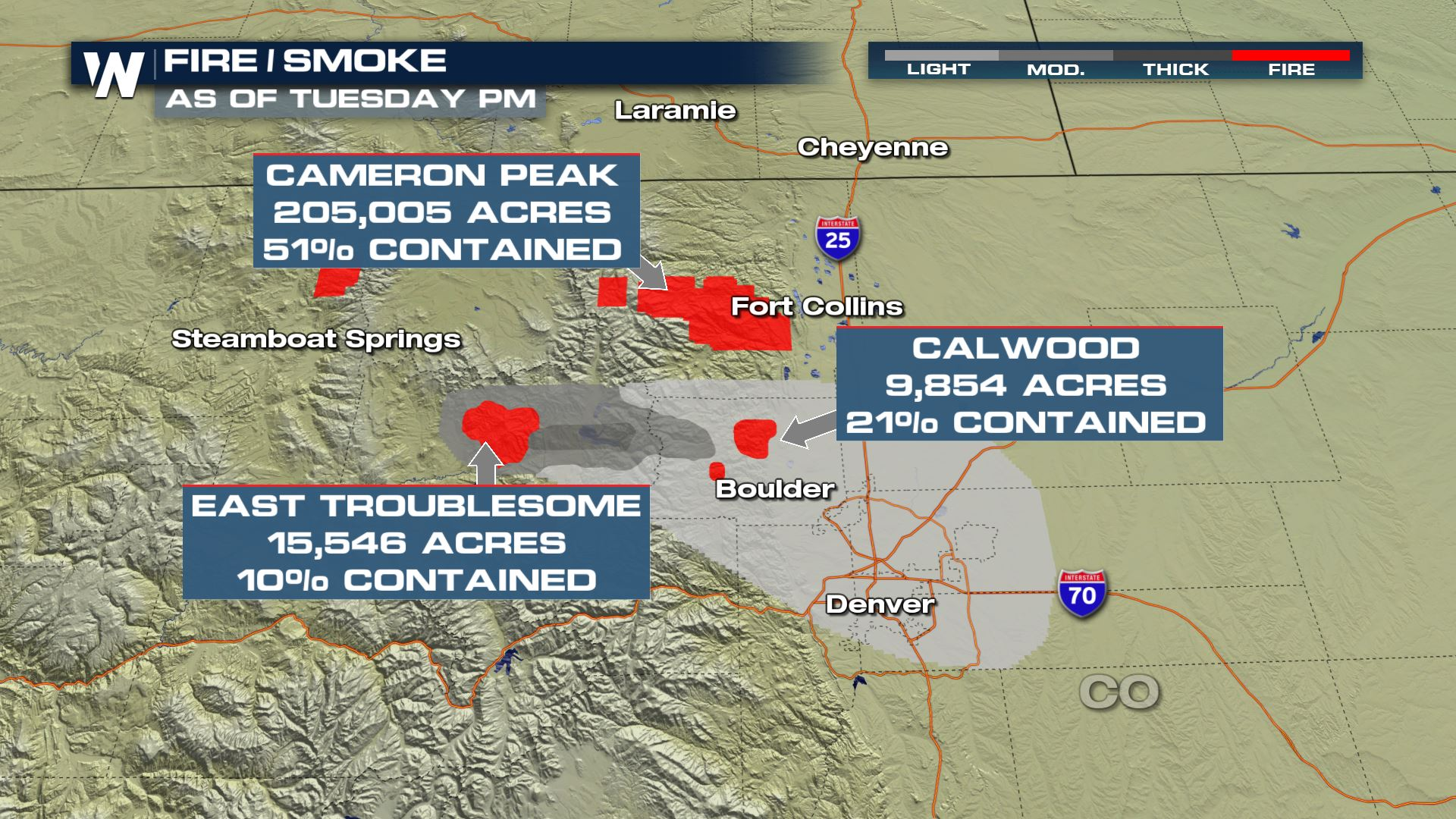 Some Relief Forecast For Western Wildfires