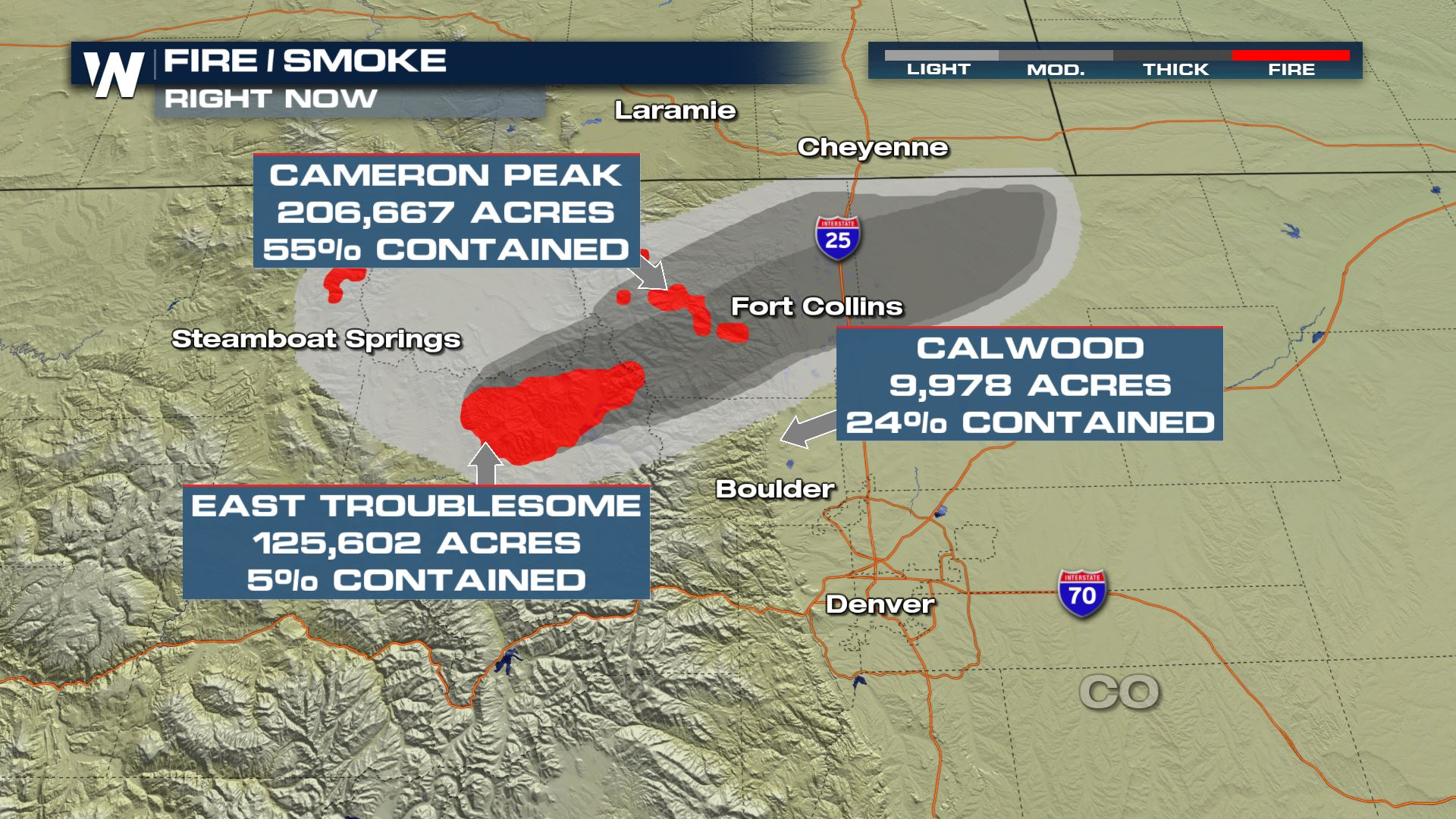 Explosive Growth in Colorado Wildfires, Some Relief Possible this Weekend