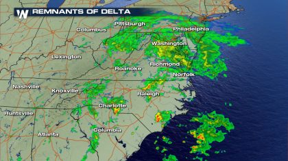 Severe Storms, Flooding From Last of Delta Into Monday