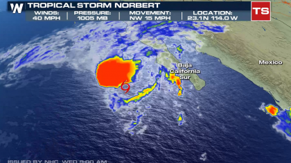 Norbert Redevelops in the Pacific