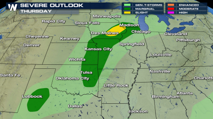 Severe Storms Possible Thursday in the Plains