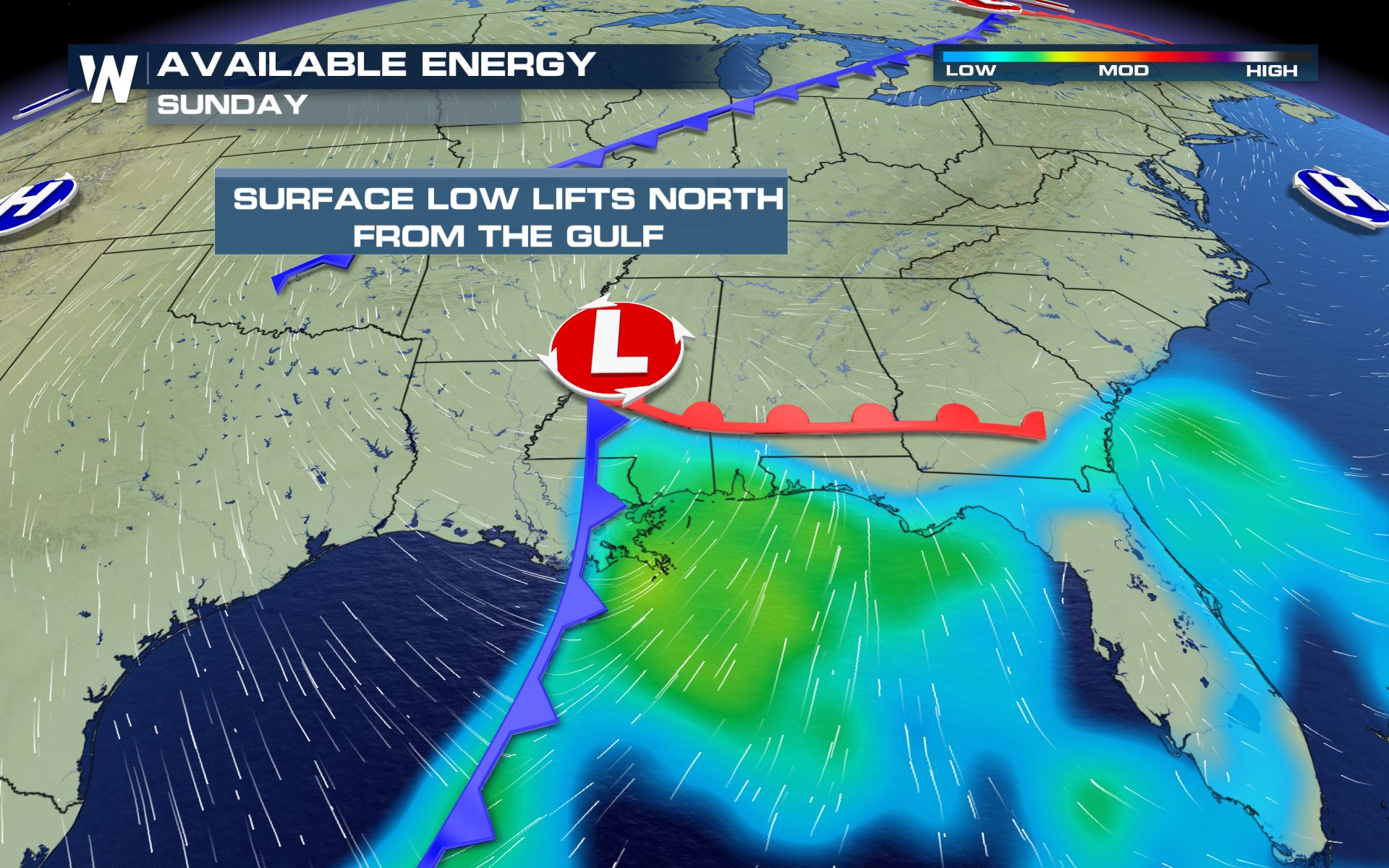 Severe Weather Likely for the Southeast and East Coast Sunday and Monday