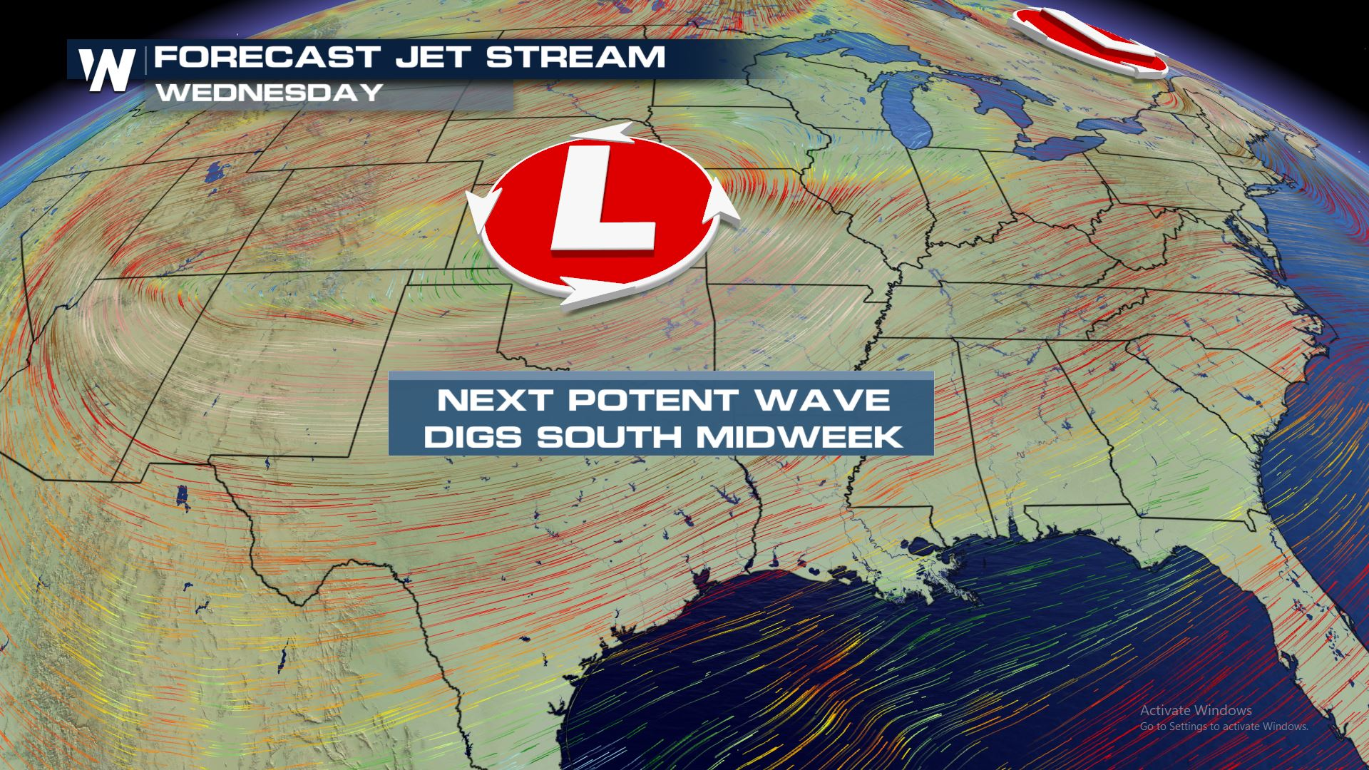 Mid-Week System Could Bring Snow to the Plains and Storms to the Mississippi Valley