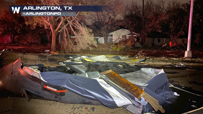 Severe Storms Cause Damage & Confirmed EF-2 Tornado in Texas Overnight