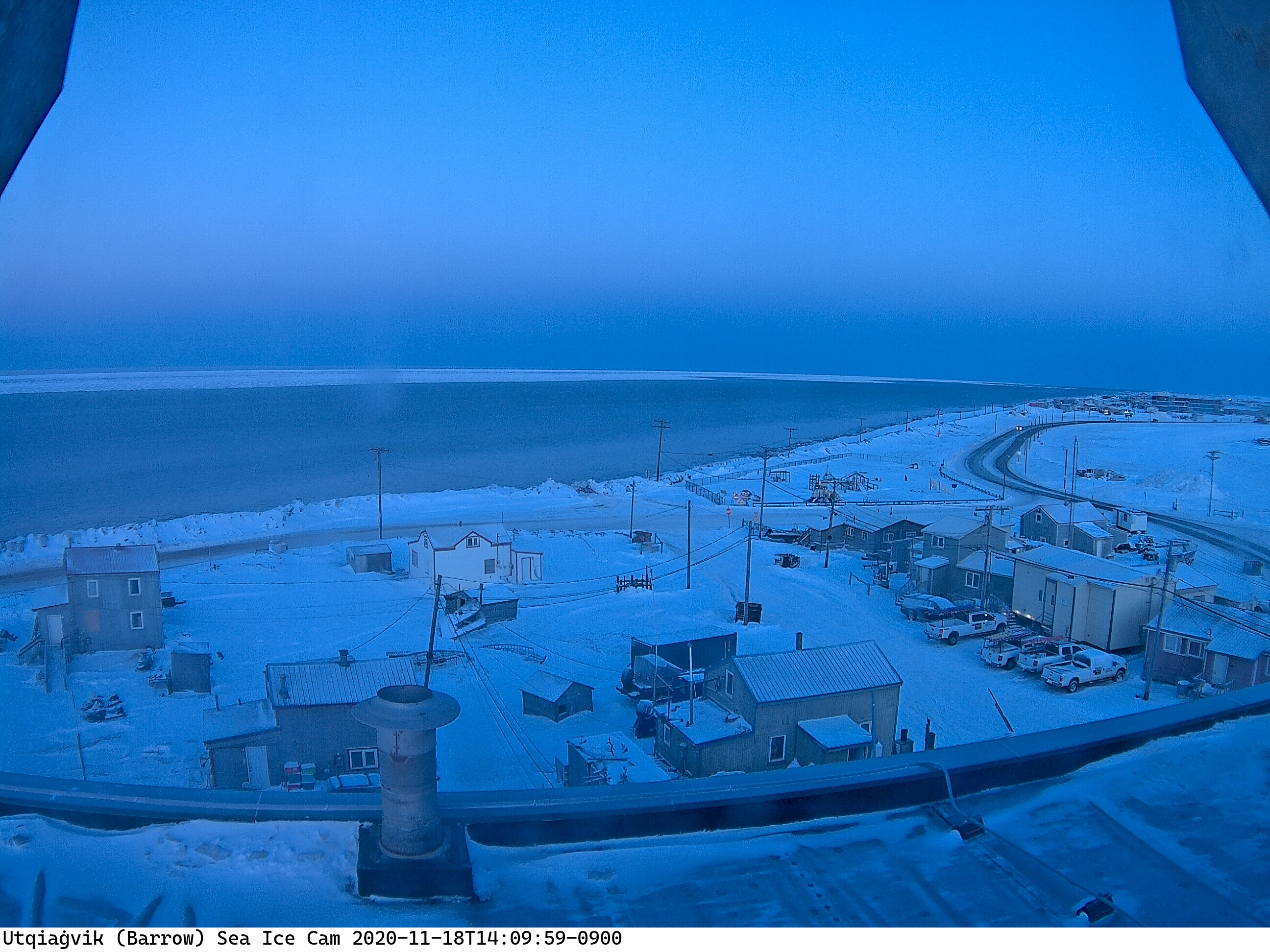 Utqiagvik's Final Sunset of 2020
