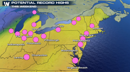 Warming Up Across the East