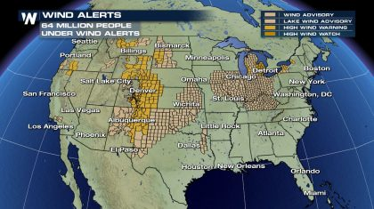 Windy weekend expected across the US
