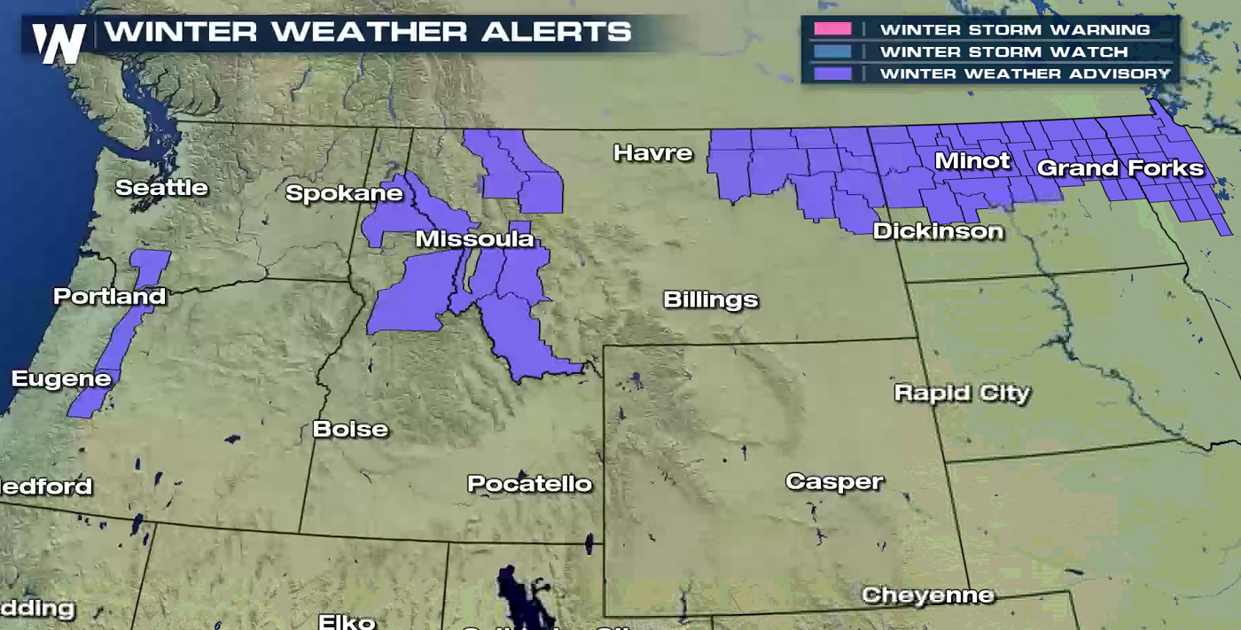 Rain & Ice from the Northwest to the Northern Plains