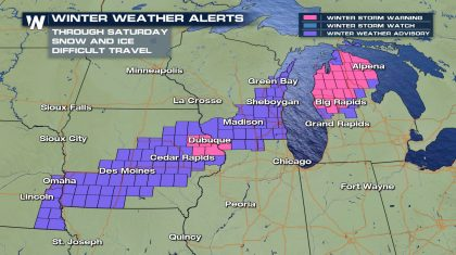 Heavy Snow for the Midwest & Western Great Lakes