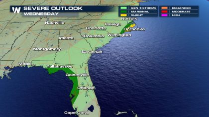 Severe Storms & Heavy Rain in the Southeast