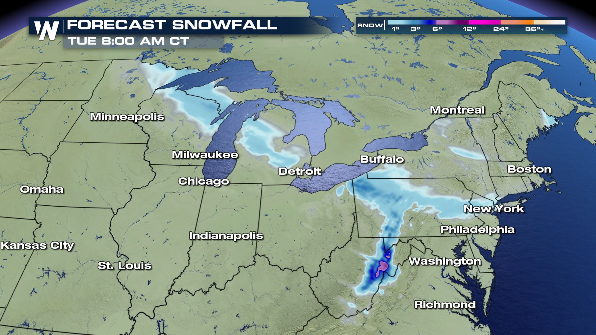 Clipper to Bring Snow to the Great Lakes and Northeast
