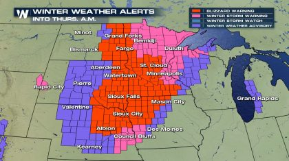 Blizzard Warnings Issued as Arctic Blast Dives South