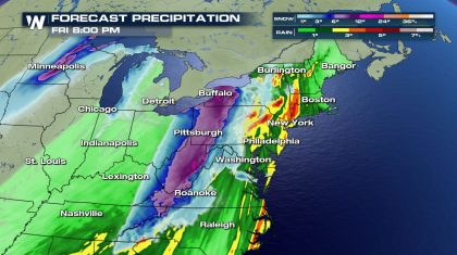 Heavy rain and snow for the Northeast Christmas Day