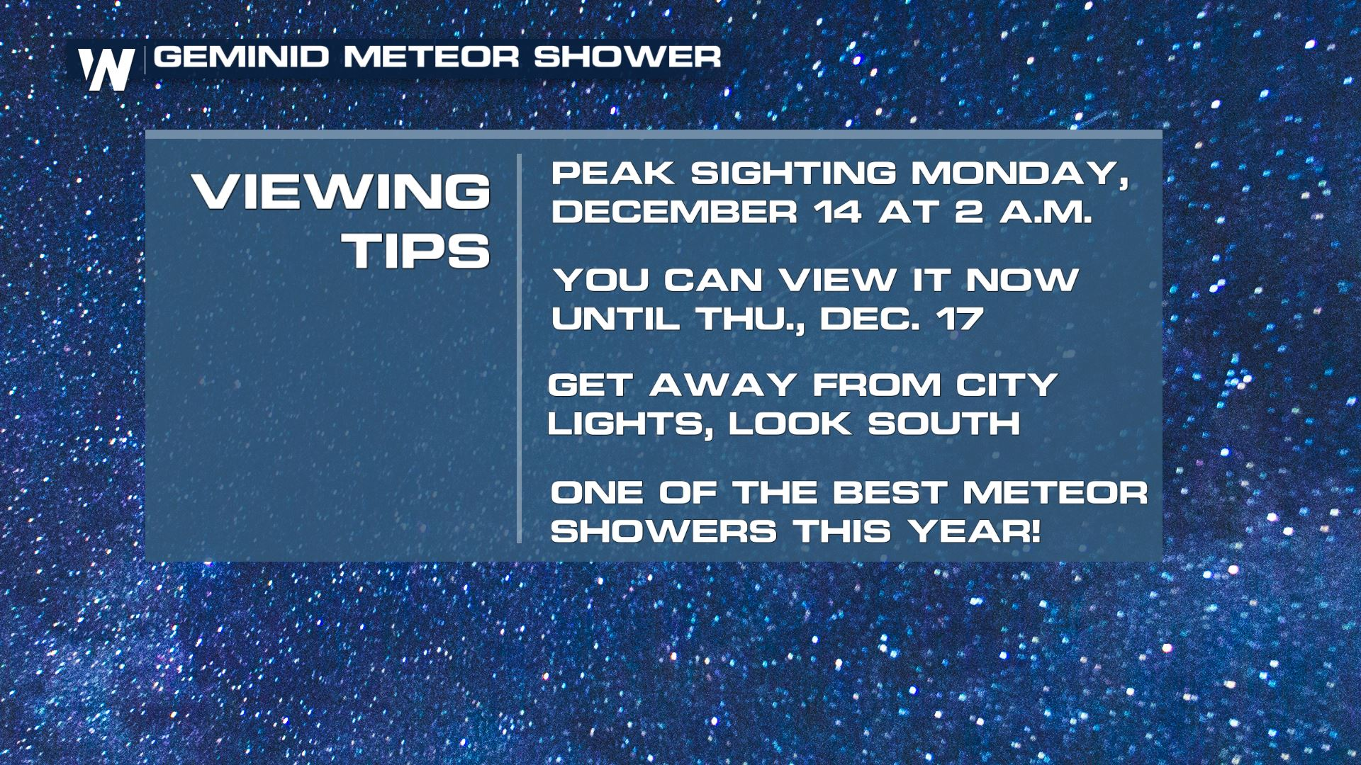 Geminid Meteor Shower Peaks This Weekend