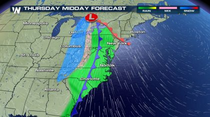 Strong Storm Becoming Likely Christmas Week