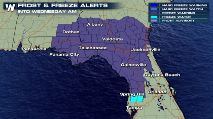 Cold Weather in the Southeast with a Frost and Freeze Ahead