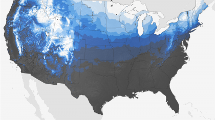 Holiday Forecast Lookahead: Chances of a White Christmas, Above Average Temps