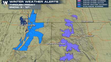 Snow for the Rockies, Avalanche Warnings in Utah