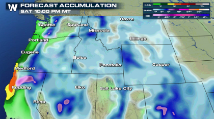 Rain, Snow and Icy Areas for the Northwest