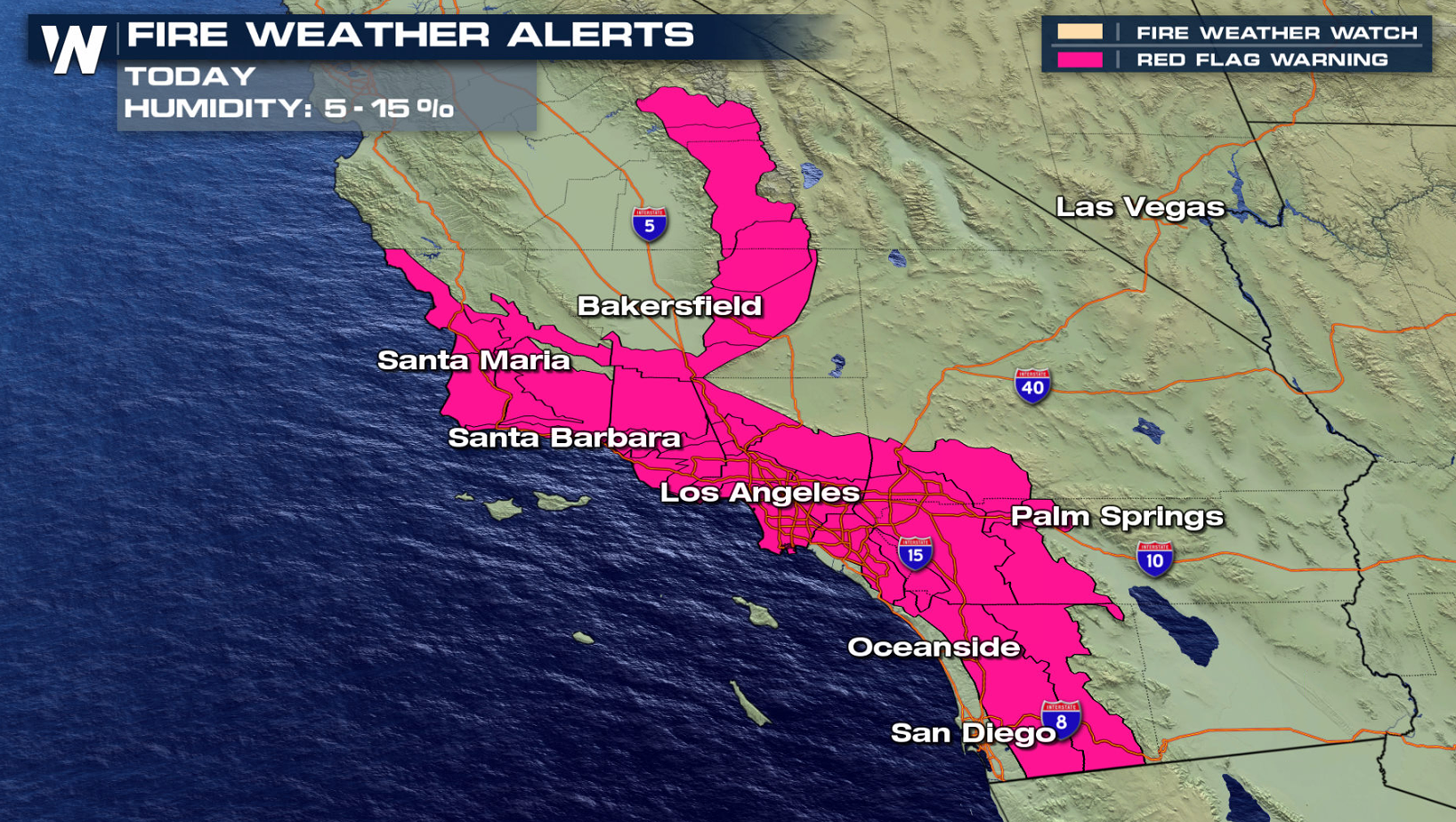 Fire Weather Threat Continues in Southern California