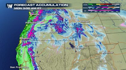 Snow for the west from a pair of low pressure systems