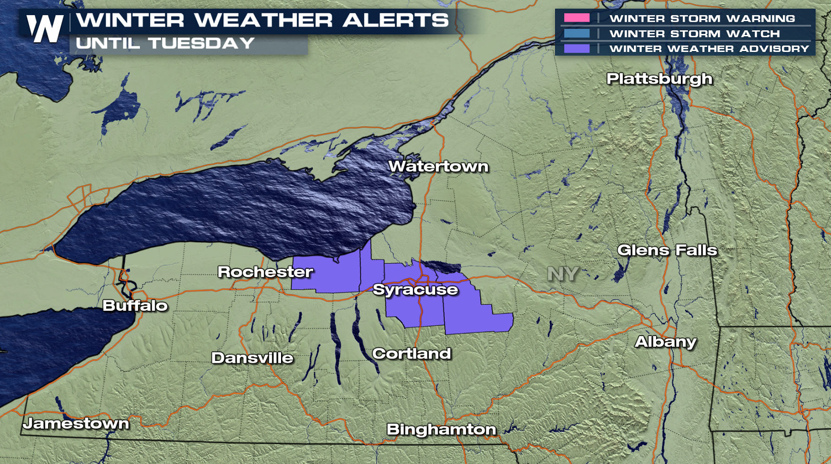 Lake Effect Snow Continues in New York