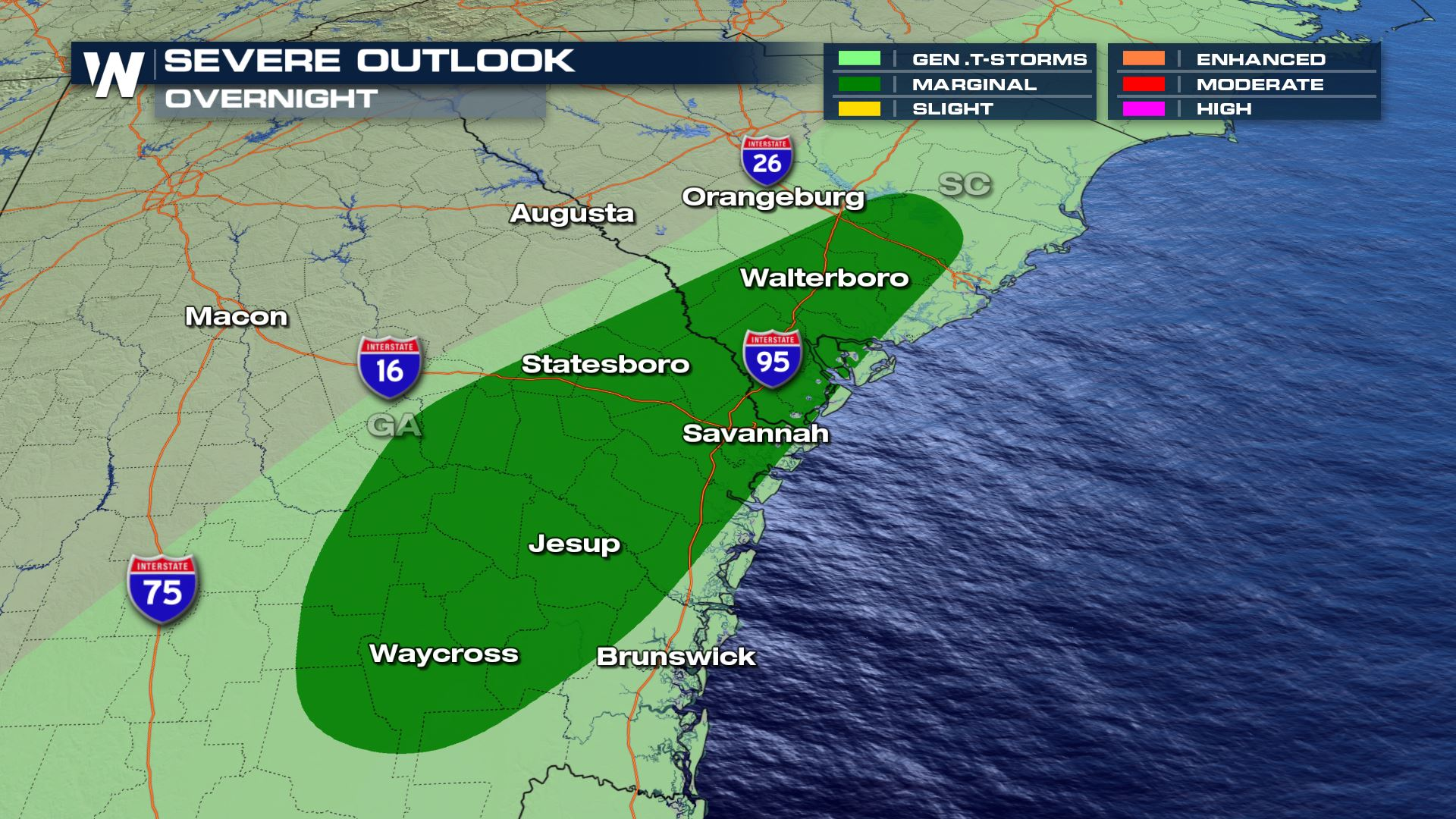 Southeast Storms Bring Mid-Atlantic Flooding Concern