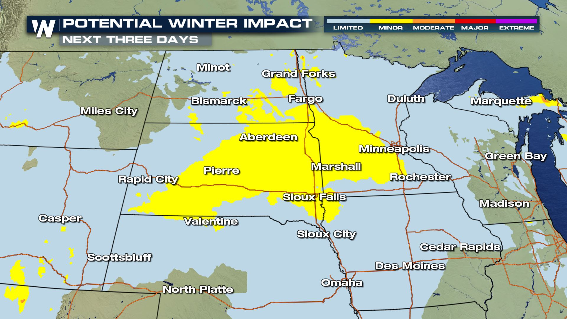 Weekend Snow for the Midwest