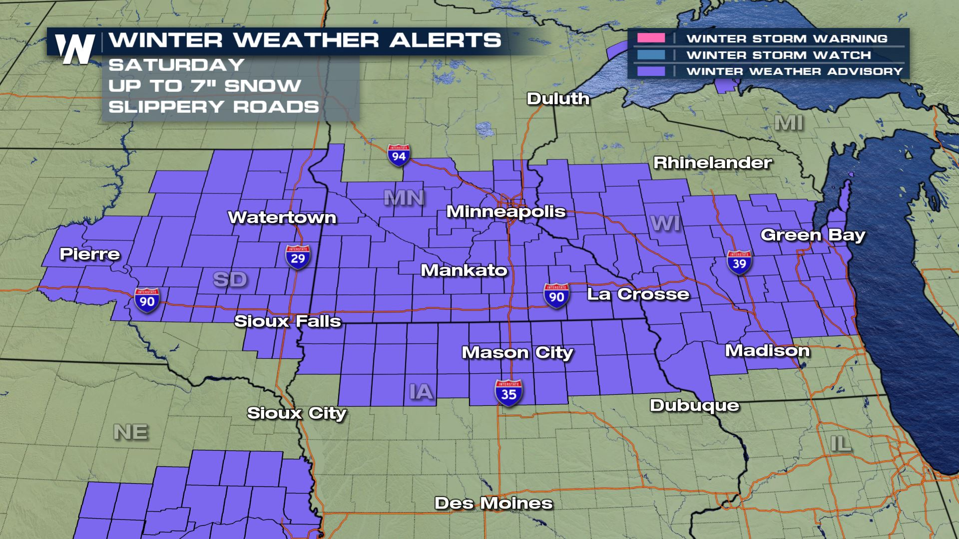 Snow to Start the Weekend in the Midwest