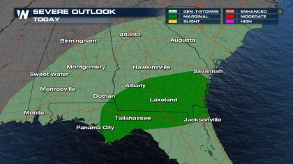 Severe Weather Potential in the Southeastern US