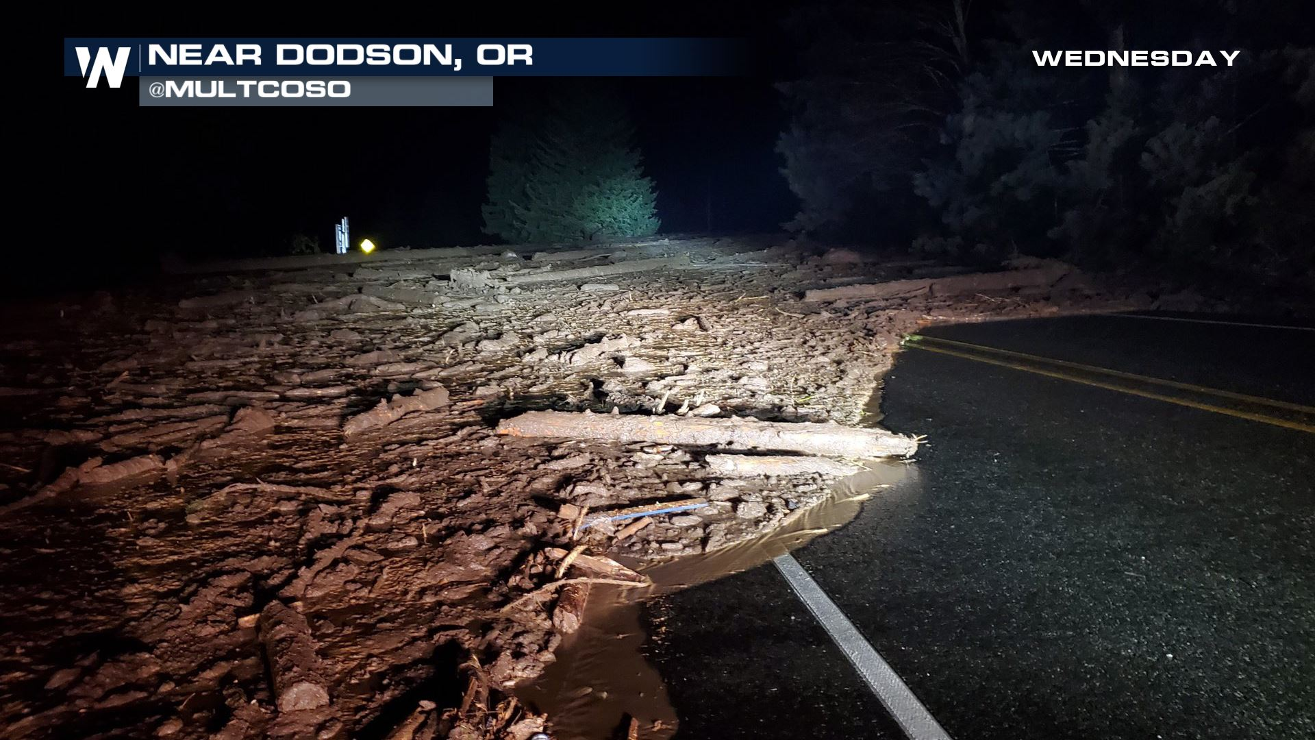 Life-Threatening Landslide Prompts Evacuations in Oregon