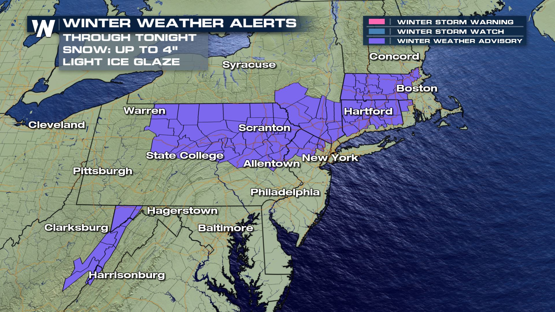 Additional Snow Into Monday for the Northeast