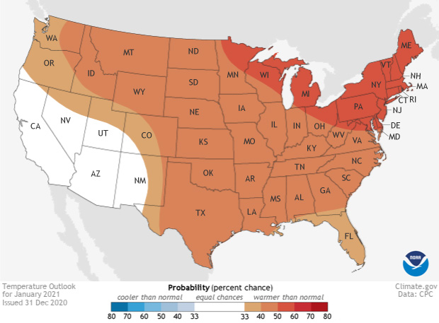 January Outlook: Wetter & Warmer for Most of the Nation