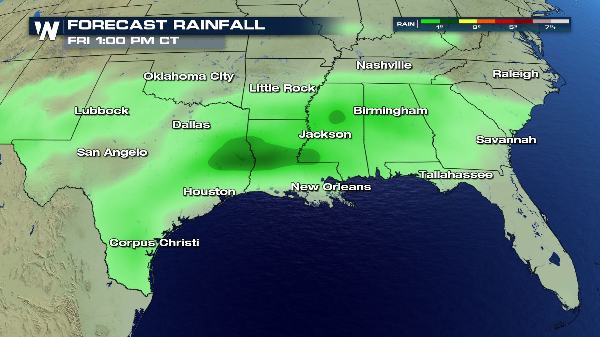 Soggy Forecast for the Southern U.S.