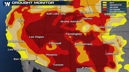 Windy with Fire Weather Concerns in the Southwest