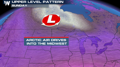 Shot of Cold Air Across the North