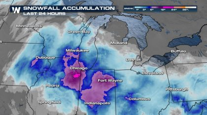 Additional Sunday Snow For The Midwest