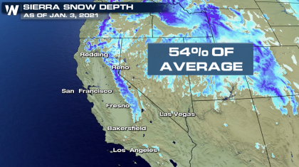 More Snow to Add to the Sierra Snowpack