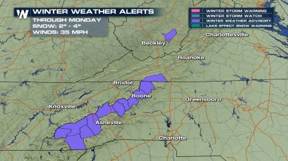 More Snow for the Central Appalachians Tonight